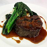 Braised beef daube with creamed potatoes, tender stem brocolli, cavalo nero with thyme jus
